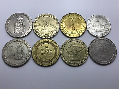 Vintage Lot of 8 Casino Coins Golden Nugget, Texas Hotel ++