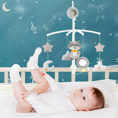 7 Pendant Baby Crib Mobile Music Bed Cot Bell Toy Holder Arm Bracket Hanging Box