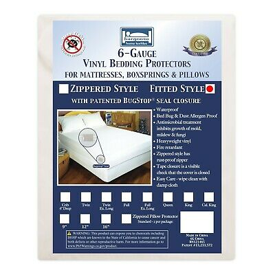 """Bargoose Vinyl Mattress Cover-Fitted Six (6) Gauge Bed Protector FULL XL 54""""x80"""""""