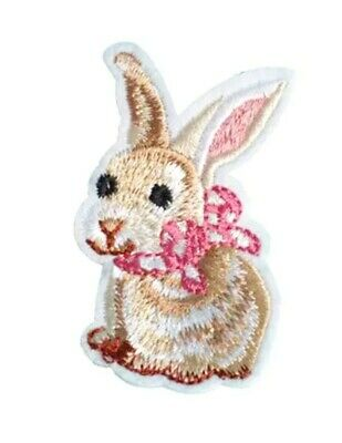 Easter Embroidered//Sequin Iron On Applique Patch Bunny Rabbit Lily