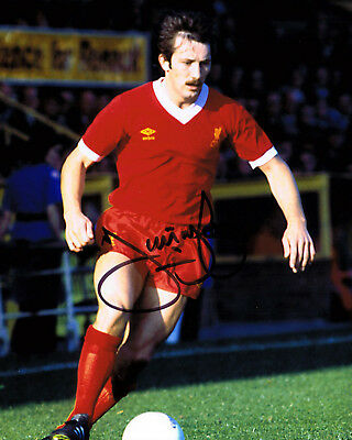 Jimmy Case SIGNED Liverpool Legend 10x8 Photo AFTAL COA