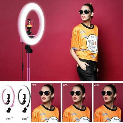 """14"""" LED Ring Light Dimmable 5500K Fill Lamp Photography Phone Video Live Lamp"""