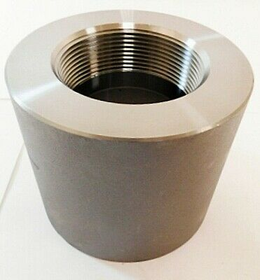 "Pipe Fitting - 4"" x 3"" FNPT Reducer Black Forged Steel"
