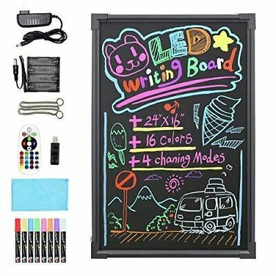 "Hosim 24"" x 16"" Clignotant Illuminated effaçable Neon LED Message Writing Board"