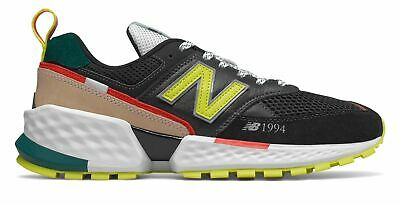 New Balance Men's 574 Sport Shoes Black with Green