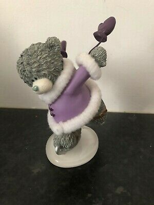 Dancing On Ice - Rare Me To You Winter Bear Ice Skating Figurine Resin Ornament