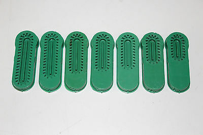Set of 6 Green Straight Singer Professional Buttonholer Template Cams
