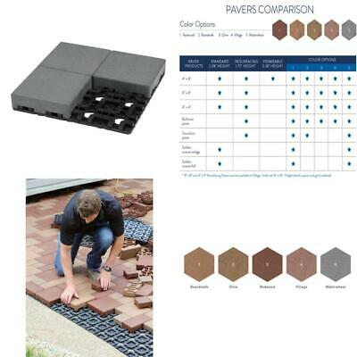 8 In. X 8 In. Waterwheel Composite Standard Paver Grid System (4 Pavers And 1 Gr