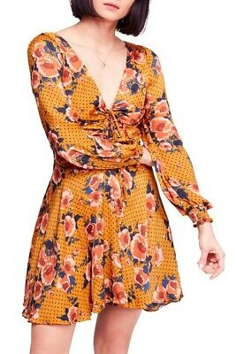 FP Free People Rose Easy Morning Maxi Dress Size S Small Orange RSP $98