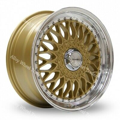 """16"""" Gold BSX Alloy Wheels Audi 90 100 80 Coupe Cabriolet Saab 900 9000 4x108"""