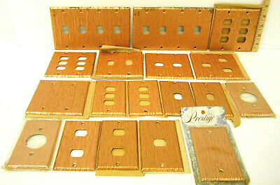18 Heavy Duty Antique Grained Copper Plate Metal Switch Phone Toggle Cover Blank
