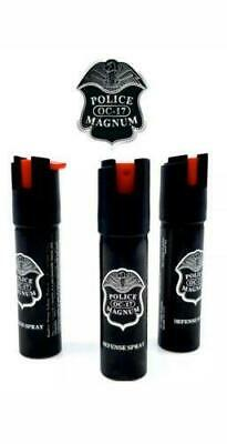 3 PACK Police Magnum pepper spray 1/2 oz Safety Lock Defense Security Protection