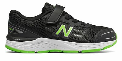 New Balance Kid's 680v5 Big Kids Male Shoes Black with Green