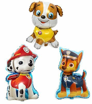 31``Paw Patrol CHASE MARSHALL RUBBLE Kids Party Helium foil Birthday Balloon