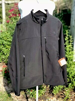 NWT THE NORTH FACE Men's Black Full Zip Zipped Pockets Jacket Large