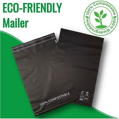 100 Biodegradable Poly Mailer Compostable Satchels Courier Shipping Bags Package
