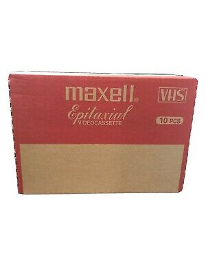NEW Sealed In Box 10 VHS MAXELL Epilaxial Videocassette