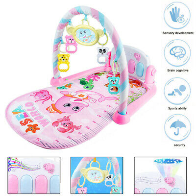 3 in 1 Baby Light Musical Gym Play Mat Lay & Play Fitness Fun Piano Boy Girl