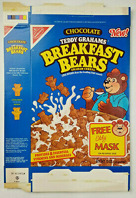 Nabisco Teddy Grahams Vtg 1989 Rare Breakfast Bears Cereal Empty Flattened