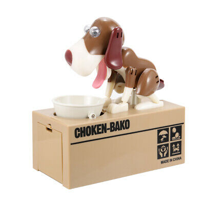Dog Style Coin Money Box Piggy Bank Collecting Saving Money Bank Color Brown New