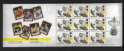 pk47136:Stamps-Canada #1445a NHL 9 x 42 ct Booklet Pane- Mint Never Hinged