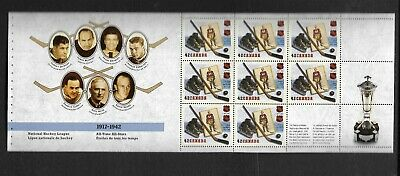pk47134:Stamps-Canada #1443a NHL 8 x 42 ct Booklet Pane- Mint Never Hinged