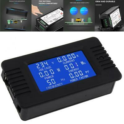 AC 6in1 220V 100A Single Phase Digital Panel Amp Volt Factor Meter with Coil CT