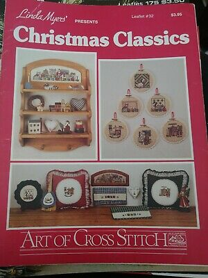 Linda Myers Christmas Classics Leaflet#32 Art Of Cross Stitch