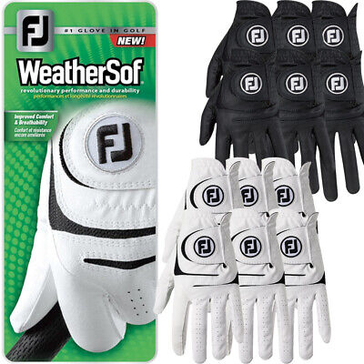 6 x FootJoy Mens Weathersof Golf Gloves Left Hand (Right Handed Golfer) 6 PACK