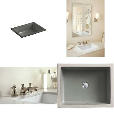Verticyl Vitreous China Undermount Bathroom Sink With Overflow Drain In Thunder