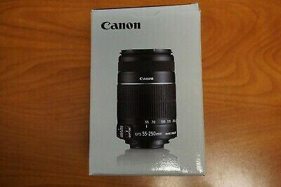 CANON ZOOM LENS EF-S 55-250MM F/4-5.6 WITH BOTH CAPS & Box