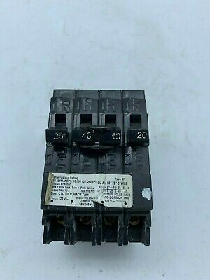 ITE SIEMENS Quad 2 POLE 40//20 AMP Q QT Q24020 CIRCUIT BREAKER chipped