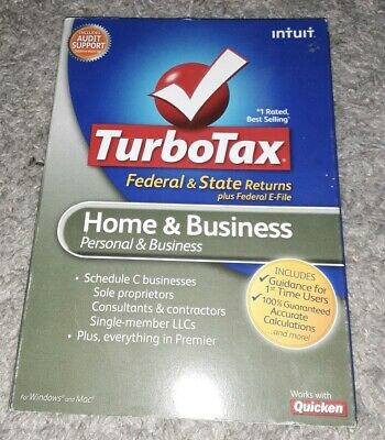 2010 Intuit TurboTax Home Personal & Business Federal & State Returns new sealed