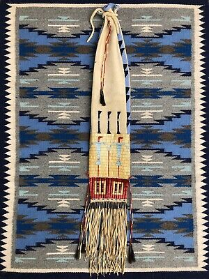 Plains Indian Beaded & Quilled Pipe Bag. Reproduction.