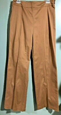 "Super Soft Dress Pants NWT Coldwater Creek Size 6 Cocoa Brown 30x32"" StraightLeg"