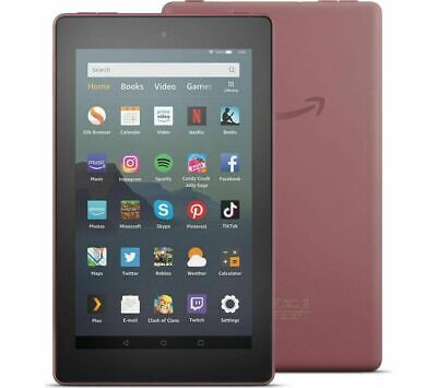 Amazon Fire 7 Kindle Tablet with Alexa 16 GB PLUM 9th Gen (2019) UK Model Sealed