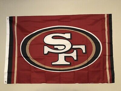 San Francisco 49ers Large Indoor Outdoor NFL Flag Banner 3ftX5ft Free Shipping