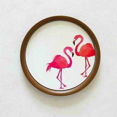 """Hanging Wall Plates Wood Decor with Hook - 10"""" in Diameter"""
