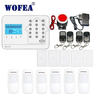 E88 WiFi GSM APP RFID Wireless Home Security Alarm System+2 HD Outdoor IP Camera