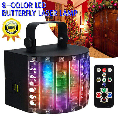 DJ Disco LED Light Laser Projector Stage Lighting Xmas Party 9 colors 18W RGBW