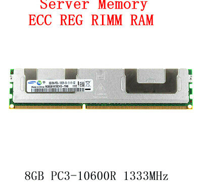For Samsung 8GB 2RX4 PC3L-10600R DDR3 1333MHz ECC REG Server Memory RAM RHNUS