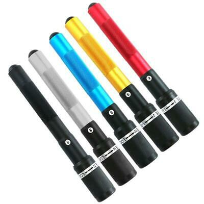 BLACK /& BLUE ANODISED PUSH ON TELESCOPIC SNOOKER CUE EXTENSION