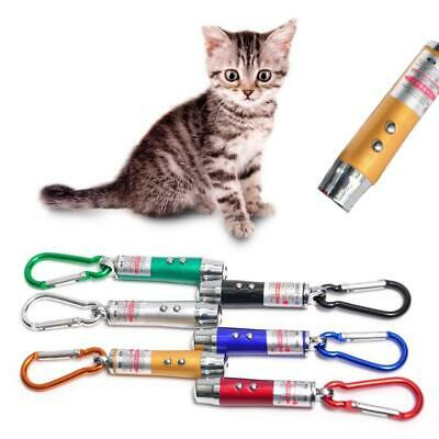 3 in1 Mini Laser Pen Keychain LED Torch Red Lazer Pointer Cat Pet Toy New