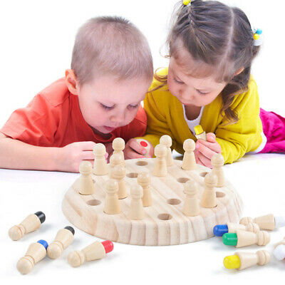 Kid Wooden Memory Match Stick Chess Game Fun Block Board Game Educational Xmas y