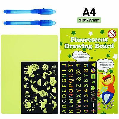 Magic Pad Light Up Drawing Neon Pen Creative Glow Art Education Fun Gift BNIB