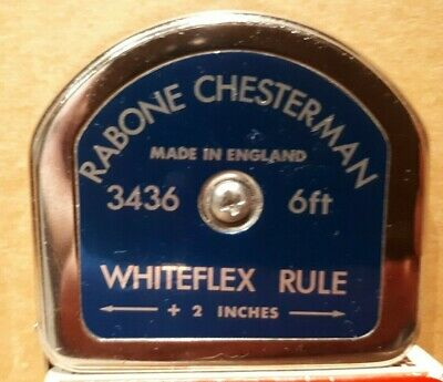 VINTAGE CHESTERMAN 3436 6FT WHITEFLEX RULE ... Like New