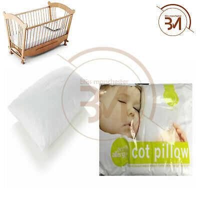 Cot Bed Size Hollowfibre Pillows Nursery Kids Baby Junior Toddler 40 x 60cm New