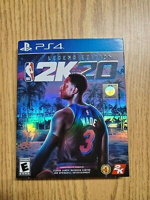 NBA 2K20 LEGEND Edition with SlipCover (PlayStation 4) BRAND NEW! ps4 legends 20