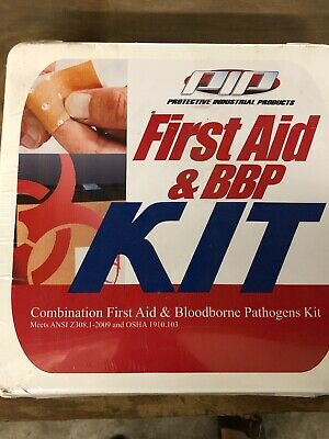 PIP First Aid & BBP Kit Combination First Aid & Bloodborne Pathogens Kit EXPIRED