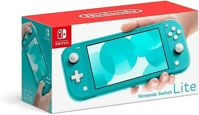 NINTENDO SWITCH LITE Turquoise Teal Handheld Video Game Console Healthy Home NEW